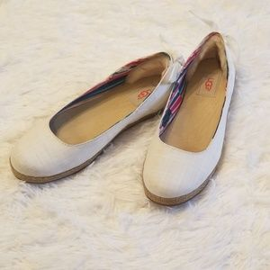 UGG white flats Perrie